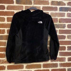 The North Face black hooded fleece sweatshirt